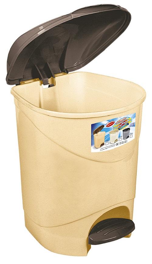سطل زباله پلاستیکی درب دار ناصر