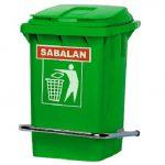 سطل زباله پلاستیکی خانگی سبلان