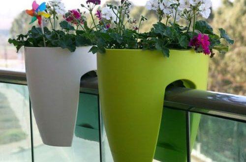 خرید گلدان پلاستیکی تراس