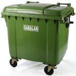 سطل زباله پلاستیکی مکانیزه سبلان