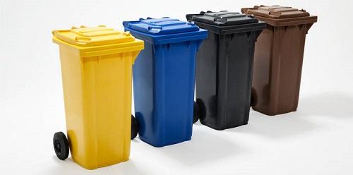 سطل زباله پلاستیکی 240 لیتری ارزان