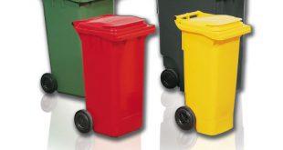 سطل زباله پلاستیکی چرخدار ارزان