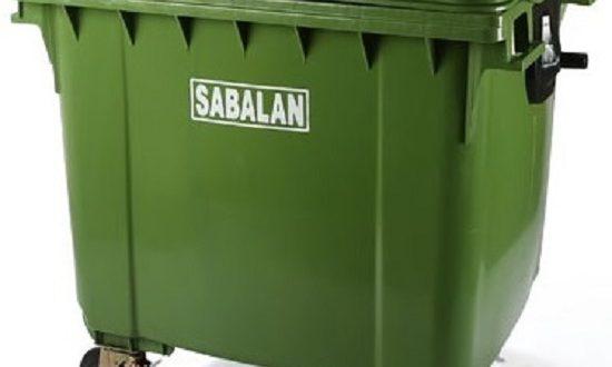 سطل زباله پلاستیکی سبلان مکانیزه