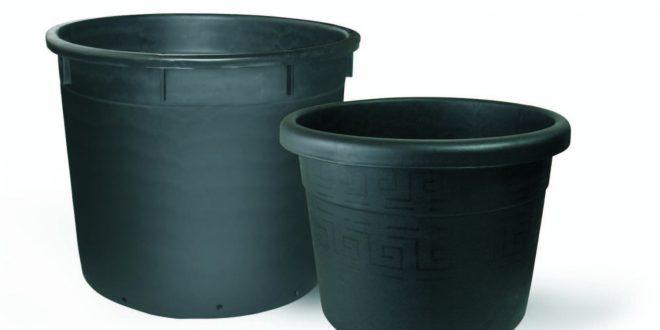 گلدان پلاستیکی سیاه