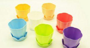 فروش انواع گلدان پلاستیکی رنگی